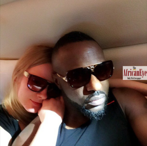 Jim Iyke and Lithuanian girl friend who had a baby for him.