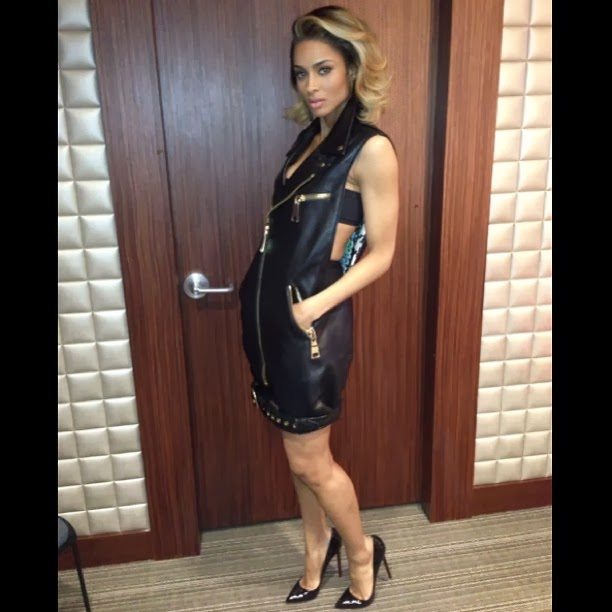 ciara leather dress