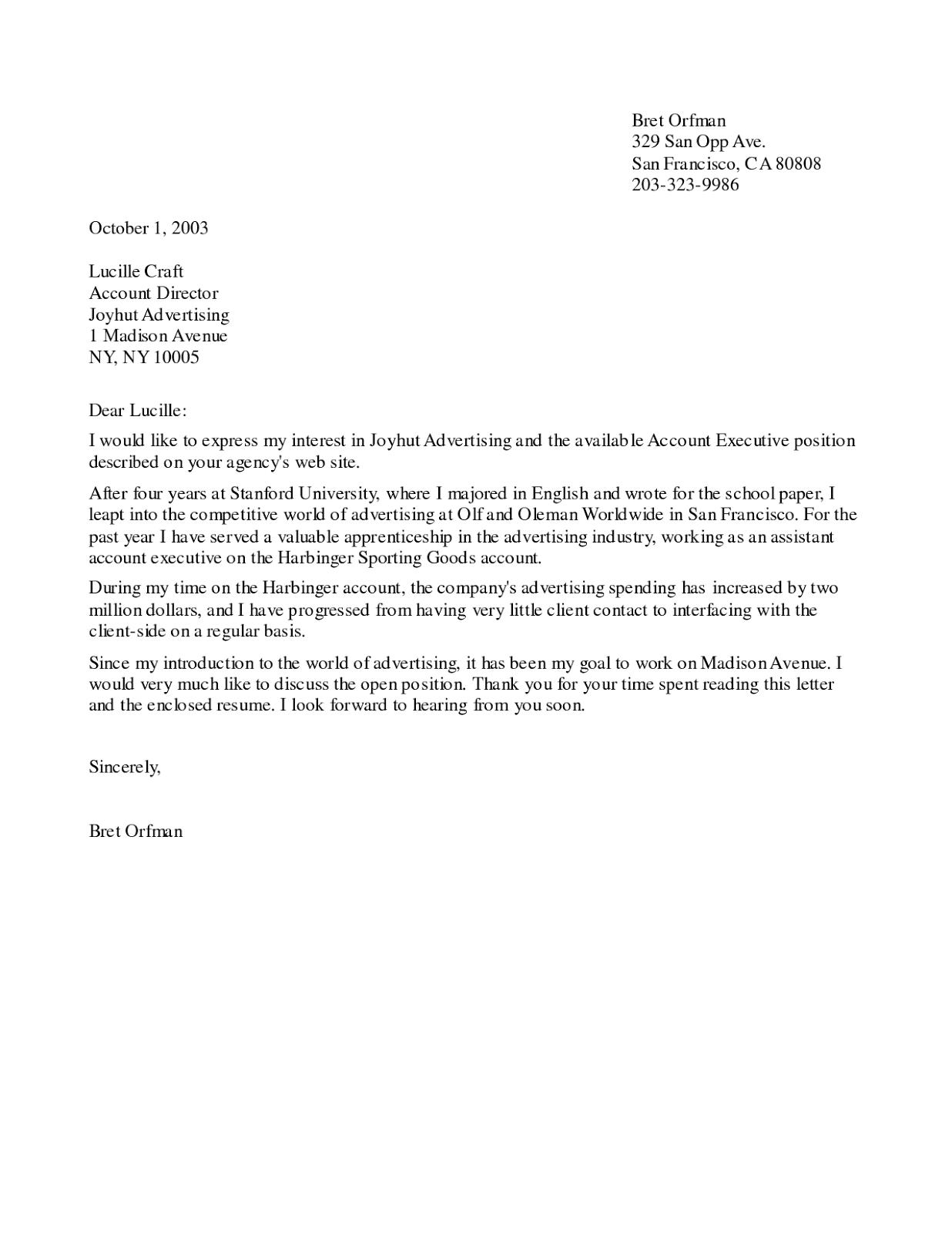 Cover Letter Scientific Editor Position