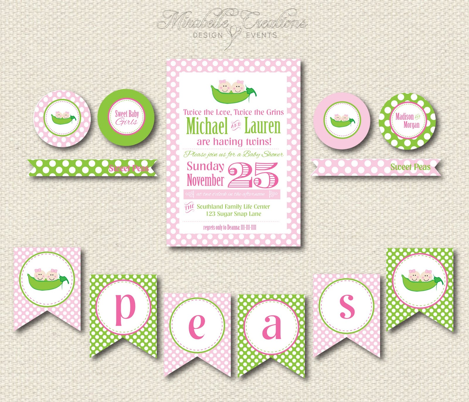 New to the Shop Baby Shower Collections Mirabelle Creations
