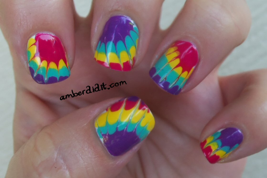 Amber Did It More Tie Dye Nails And A Tutorial