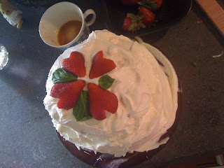 strawberry shortcake recipe basil decoration
