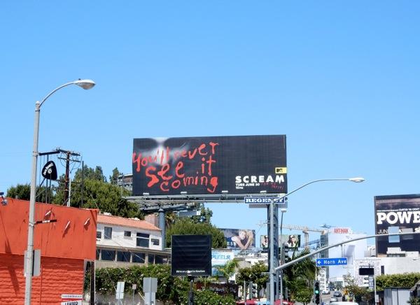 Scream series premiere billboard