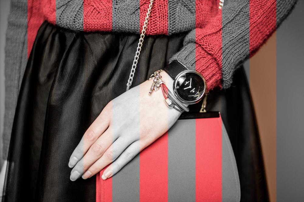 zegarek czarny klasyczny blog perfect bransoletka biżuteria lemoniq pah pajacyk