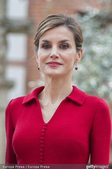 Queen Letizia of Spain attends Cervantes Award Ceremony at Alcala de Henares University