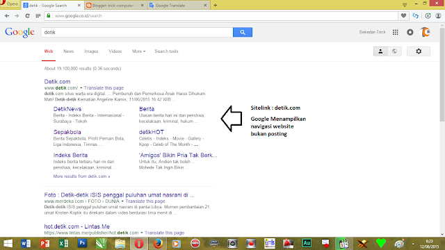 Cara Mendapatkan sitelinks google