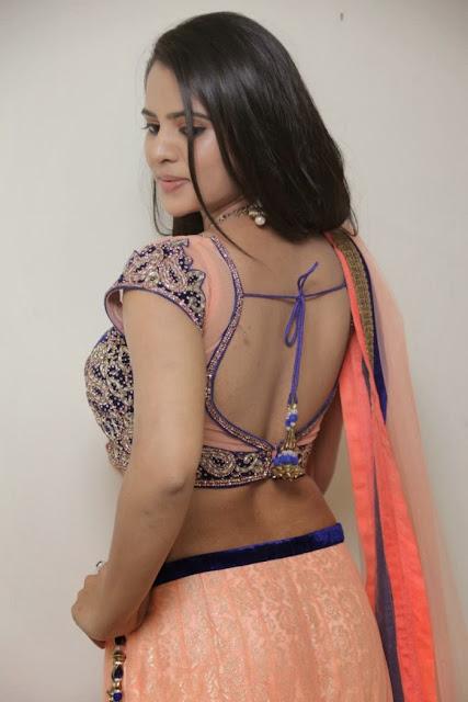 Telugu Actress Manasa Himavarsha Latest  Picture Gallery in Half Saree 0020.jpg