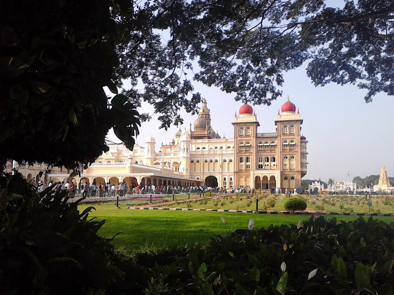 A beautiful view of Ambavilas Palace, Mysore