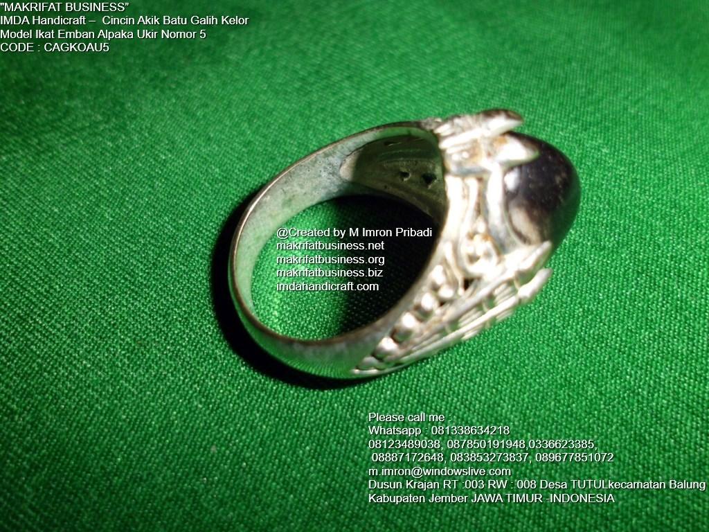 Cincin Batu Galih Kelor : Cincin Akik Batu Galih Kelor Ikat Emban