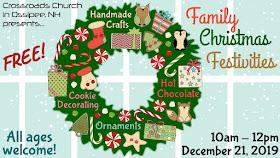 Saturday, December 21, 10am-12pm