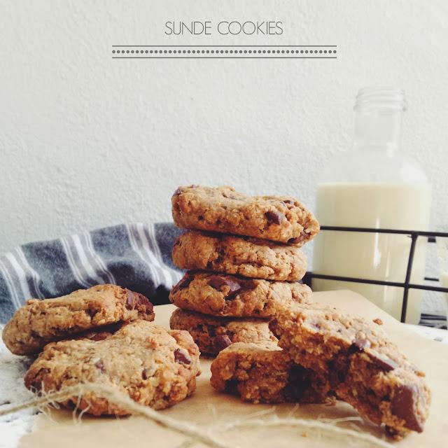 Sunde chocolate chip cookies - Mit livs kogebog - Healthy choc chip cookies