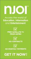 TV Satelit Percuma Malaysia - NJOI (ASTRO)