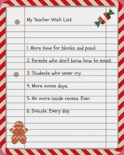 ... Holiday Teacher Gift Wish list - What Gifts Do Teachers Really Want