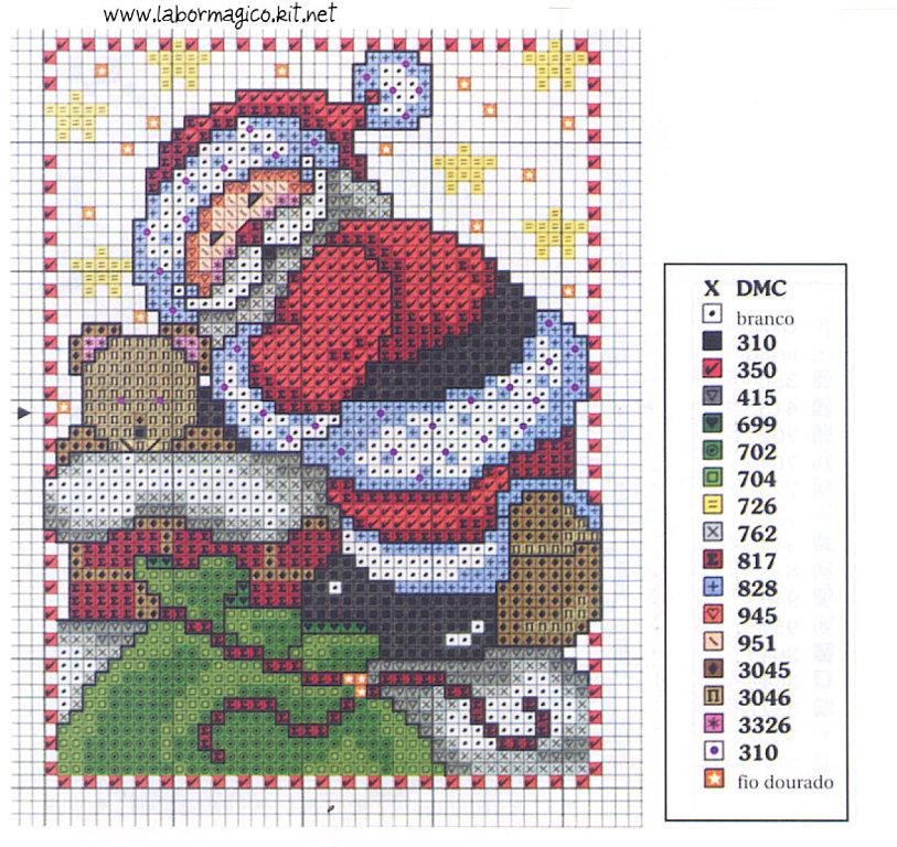 Patrones Santa Claus en punto de cruz