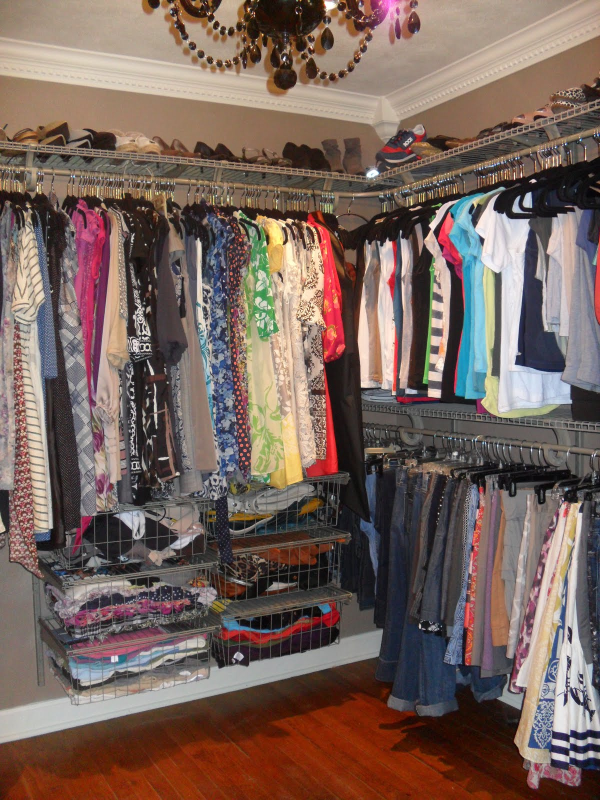 Petite early morning style diy walk in closet renovation - Walk in wardrobes diy ...