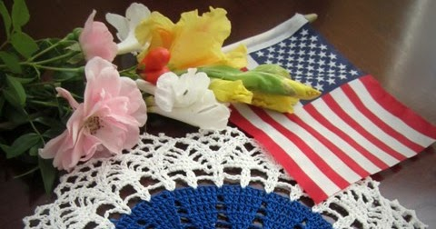 Lacy Crochet: My Fourth of July Doily