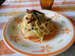 linguine zucchine e speck