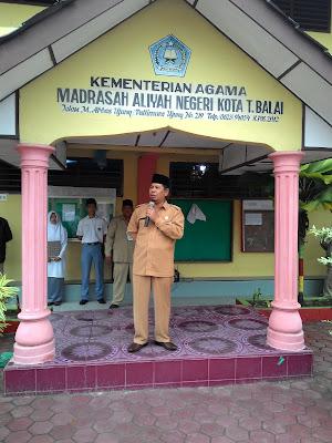 Kakankemenag Tanjungbalai Buka Pelaksanaan UN di MAN Tanjungbalai