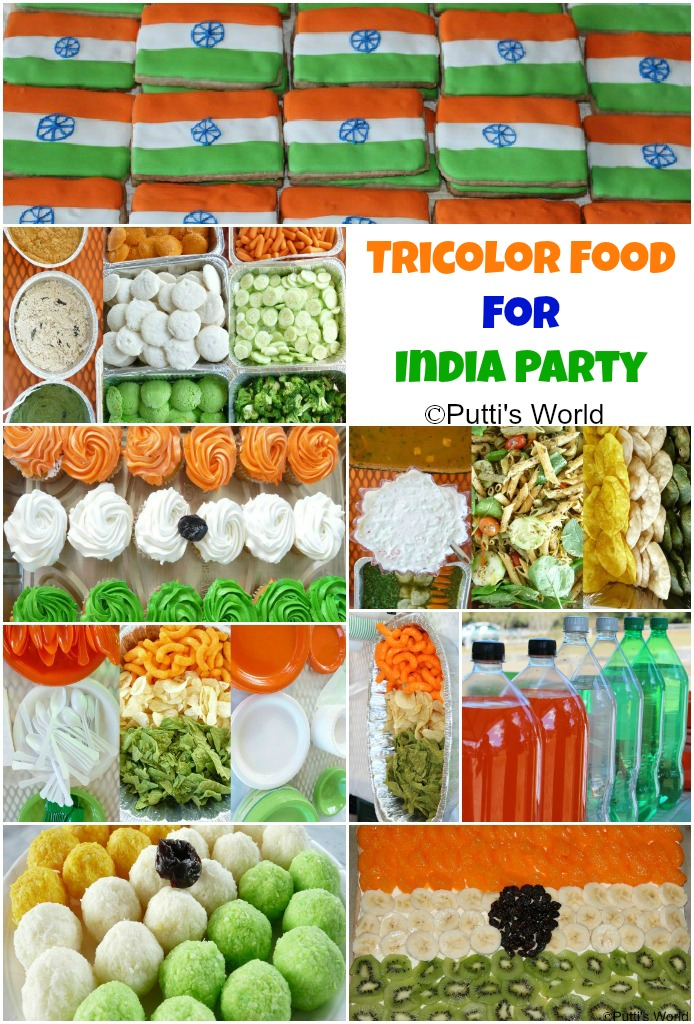Tricolor Food For An Indian Themed Party Putti S World Kids
