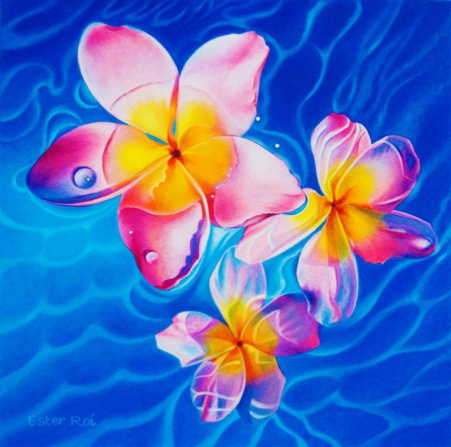 Im genes arte pinturas cuadros muy coloridos con flores - Imagenes para cuadros ...