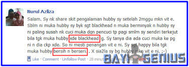 Testimoni Black Head Vitamin E Shaklee