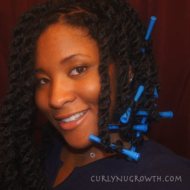 Crochet Hair Over Locs : slept in the twists over night, protecting with my Du-Bag (of course ...