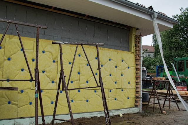 Baustelle Einfamilienhäuser, Zweischalige Massivbauweise, Am Wartenberger Luch, Am Kletterplatz / Am Genossenschaftsring, 13059 Berlin, 03.09.2013