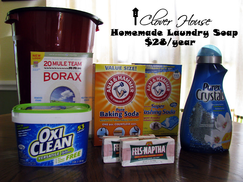Clover House Diy Laundry Detergent