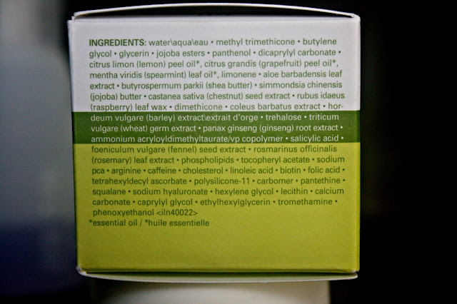Origins GinZing Energy Boosting Moisturizer Ingredients