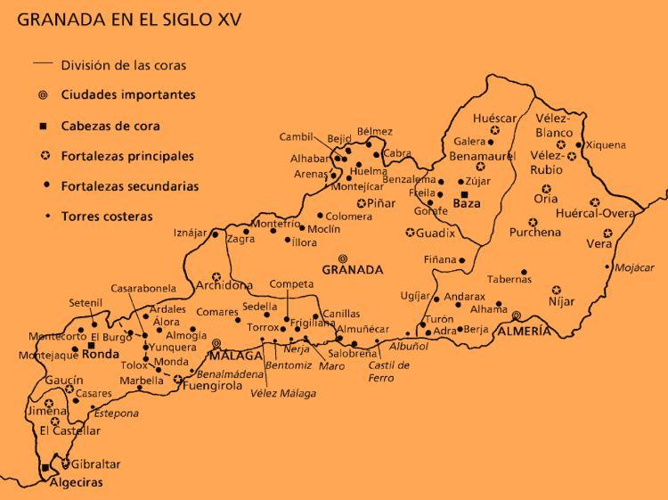 El reino nazarí de Granada en el siglo XV