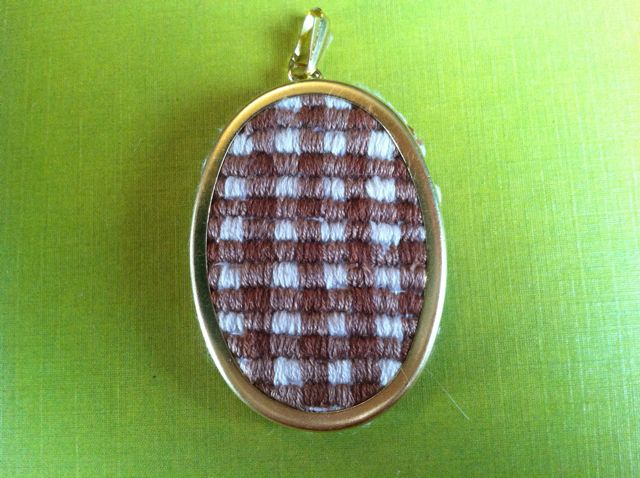 Ladyface diy embroidered pendant