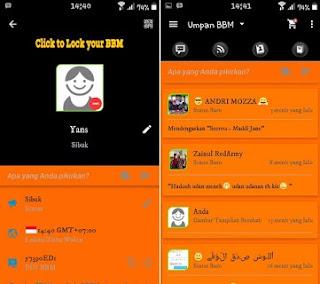 YK BBM Theme Orange Dark 2.9.0.49 Apk + Post Image To FB (NEW)
