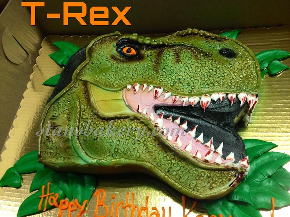 Leslies Cool Cakes From Stans Northfield Bakery T Rex Cake