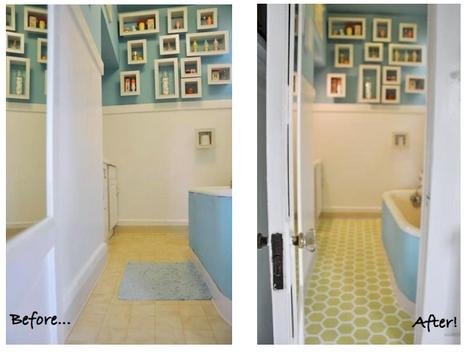 leaf house painted vinyl floor. Black Bedroom Furniture Sets. Home Design Ideas