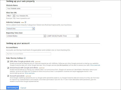 Link Your Blogger Bolg/Website to Google Analytics