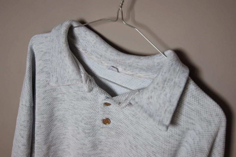 jak pozbyć się kołnierzyka z koszulki bluzy polo przeróbki ubrań szycie blog diy