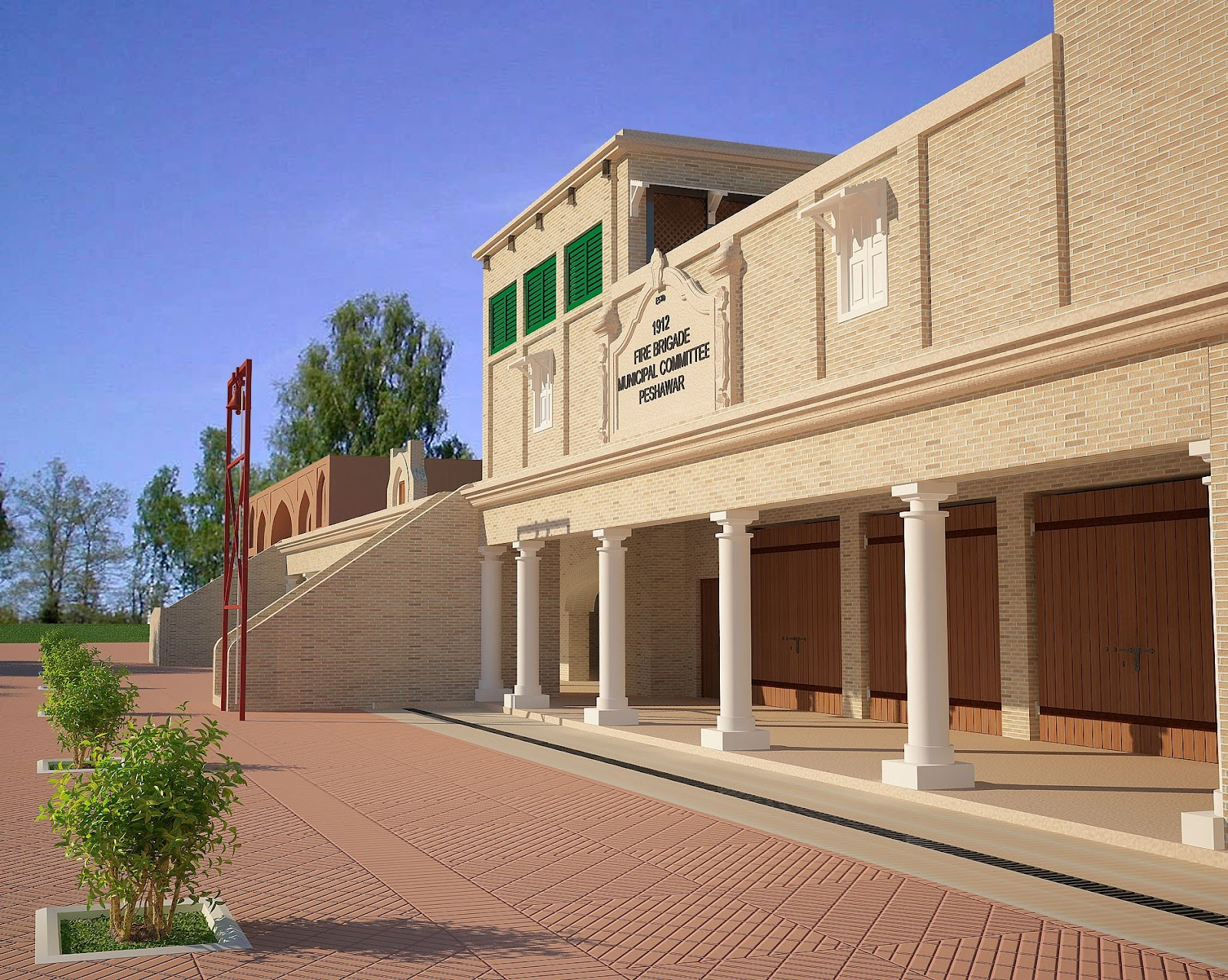 3d Front Elevation Of School : Marla house front elevation in pakistan joy studio