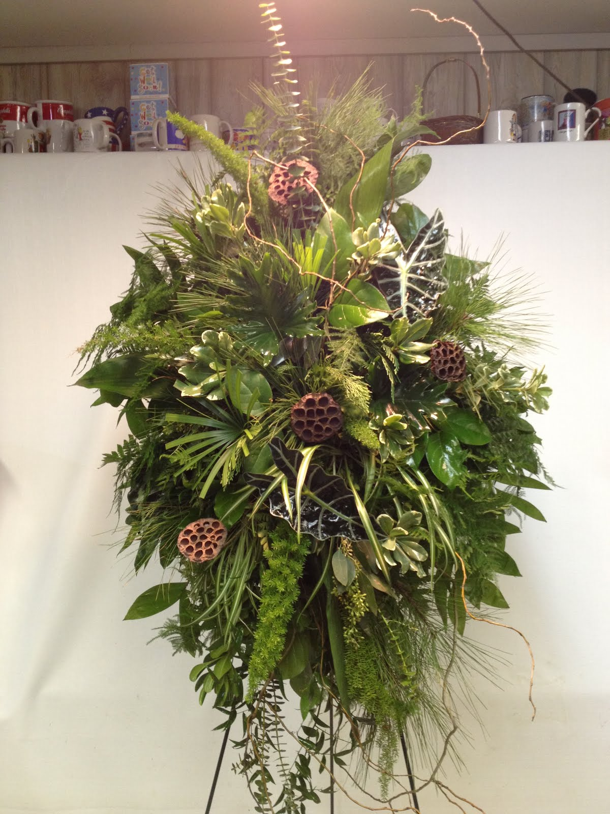 Sapps Florist Most Unique Designs Of The Day Natural Funeral Spray