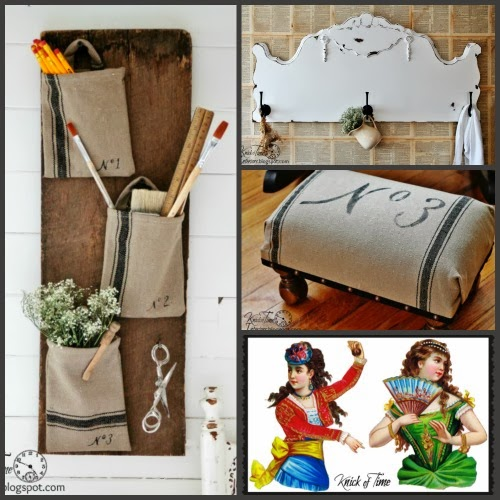 Grain-Sack-Projects-Repurposed-Headboard-Antique-Graphics-at-Knick-of-Time