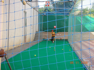 Cricket in the nets