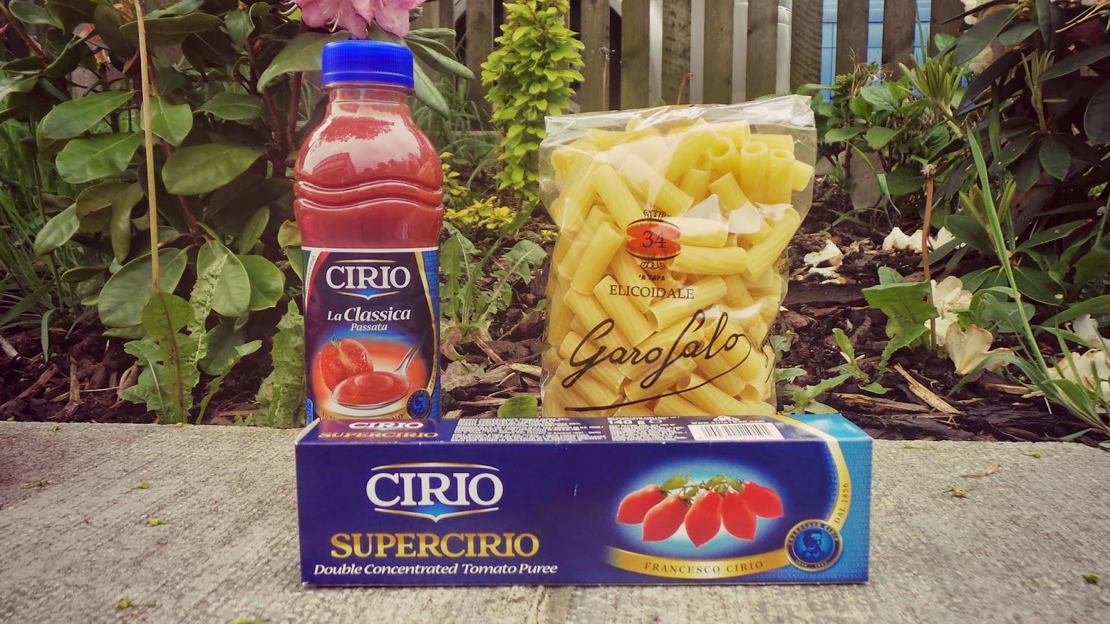 Cirio tomatoes in food subscription box