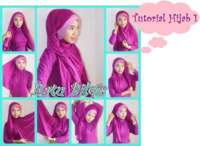 Cara Memakai Jilbab wajah lonjong