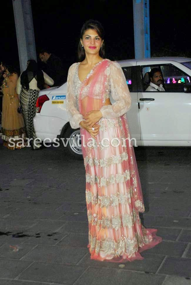 Jacqueline Fernandez At Udhay Shirin Wedding Reception
