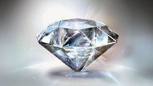 الماس يحترق