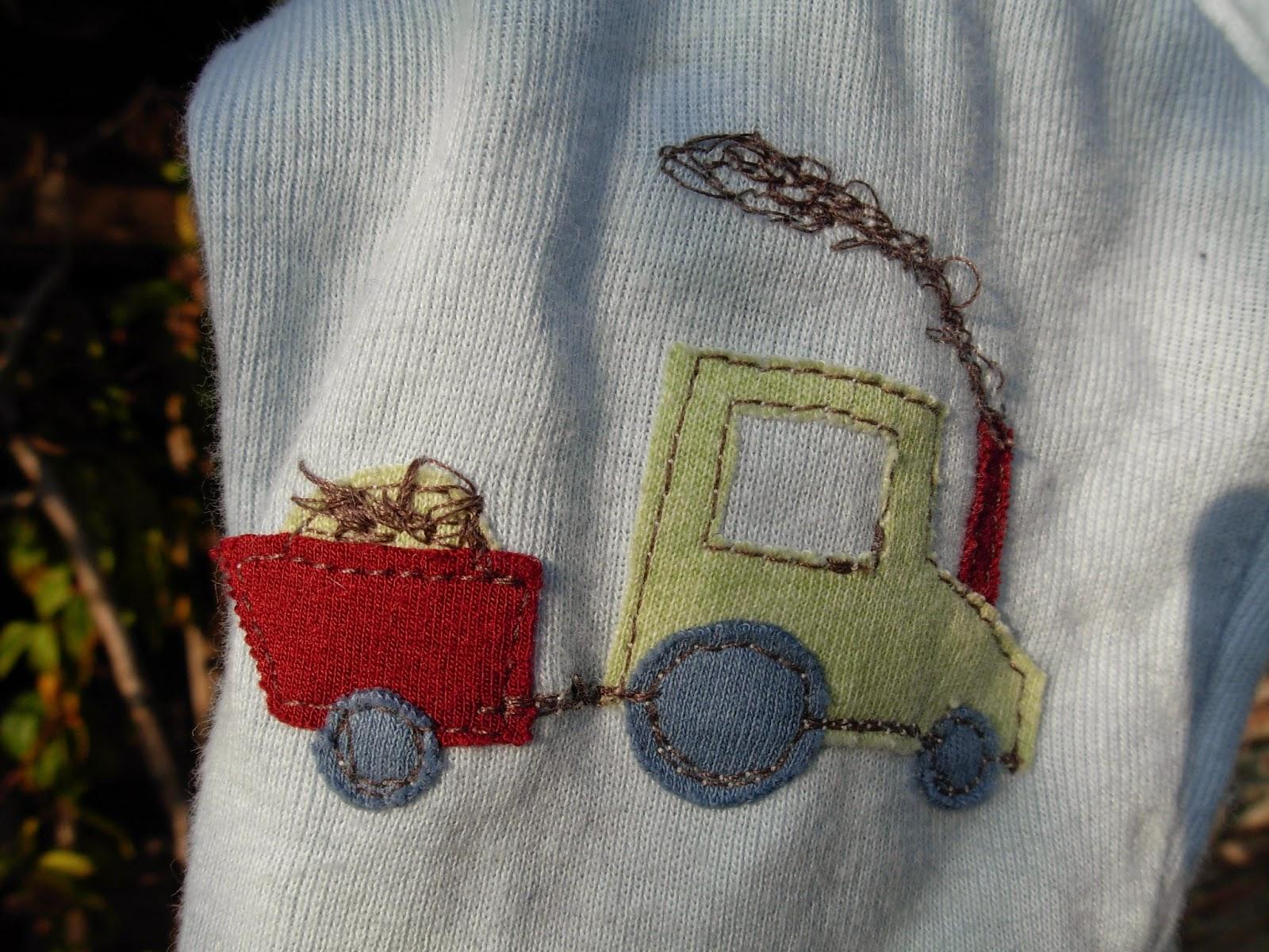 Traktor nähen, Hose verzieren, Hose für Junge