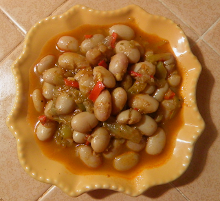 Plate of Cooked Pinto Beans