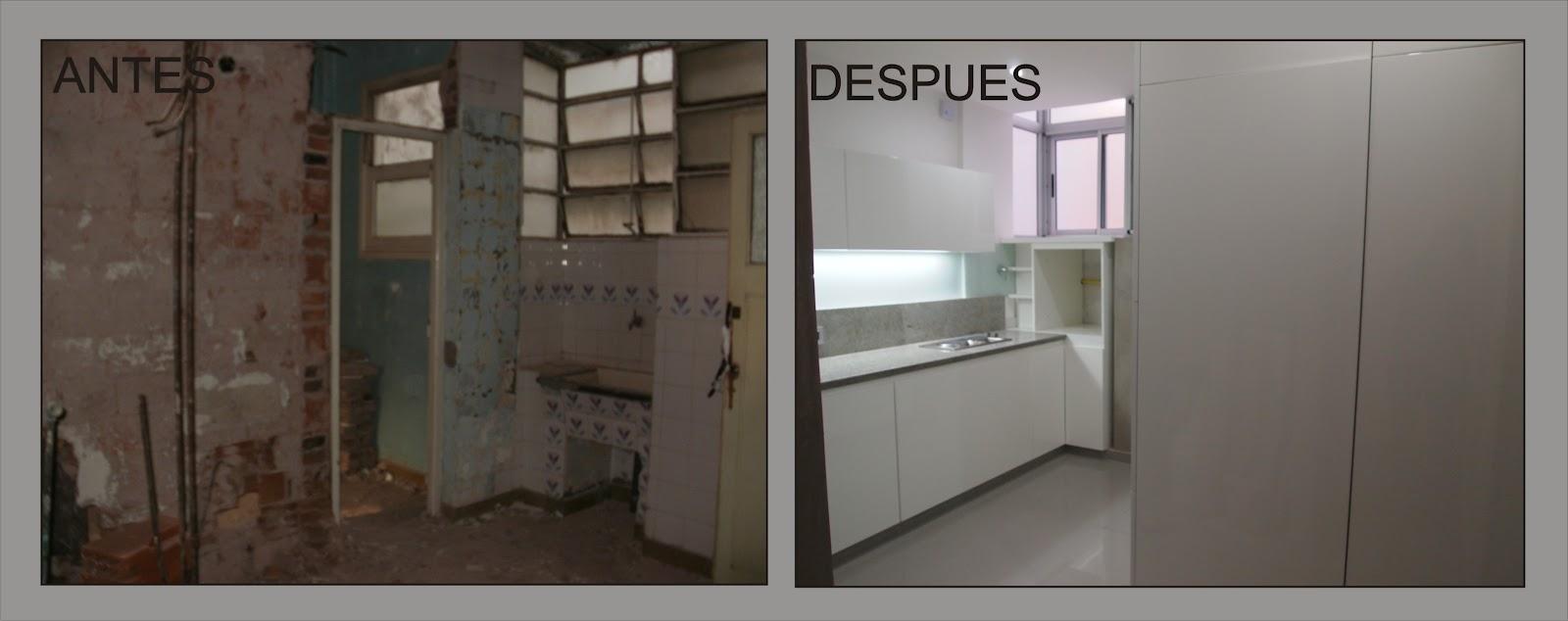 Arquitectura a tu medida remodelacion de un departamento for Tipos de cocina arquitectura