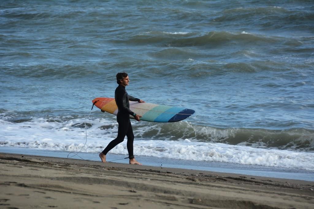 Malagueta Beach surfing