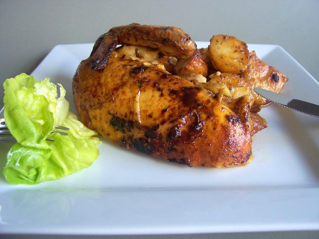 Una pincelada en la cocina pollo al horno con naranja - Cocina al horno ...