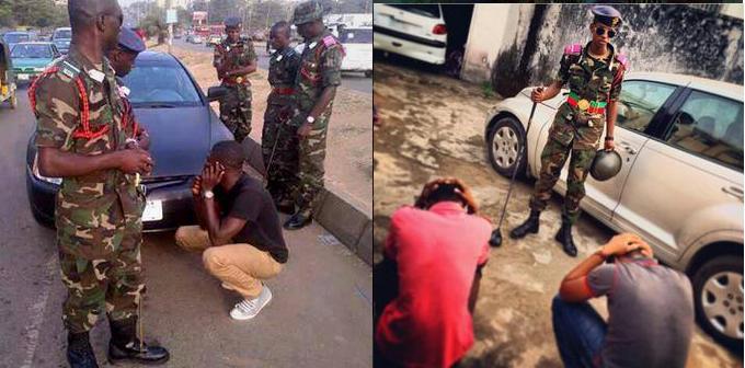 cadet beating civilians